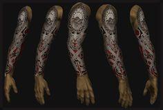 full sleeve tattoo 16 by shepush Full Sleeve Designs tattoo design . Wolf Tattoo Sleeve, Tribal Sleeve Tattoos, Best Sleeve Tattoos, Tattoo Sleeves, Hd Tattoos, Celtic Tattoos, Tattoos For Guys, Tatoos, Full Sleeves Design