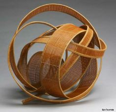 B-1097a: Bamboo basketry sculpture entitled Wave Crest, approx. 1998, Yako Hodo, (b. 1940), Japan, bamboo, The Asian Art Museum of San Franc...