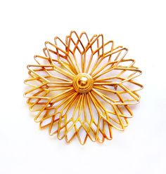 Vintage Large Retro Gold Brooch / Pin