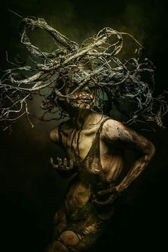 Hi-Fructose Magazine: Stefan Gesell, a German photographer, creates portraits that appear to be torn from the pages of . Arte Horror, Horror Art, Creepy Horror, Hi Fructose, Dark Photography, Macabre Photography, Creepy Art, Dark Fantasy Art, Fantastic Art