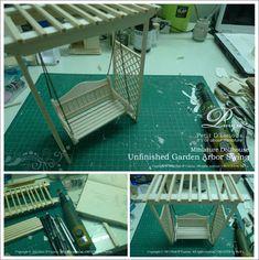 Petit D' Licious: ♥Dollhouse Miniature: Garden Arbor Swing ♥