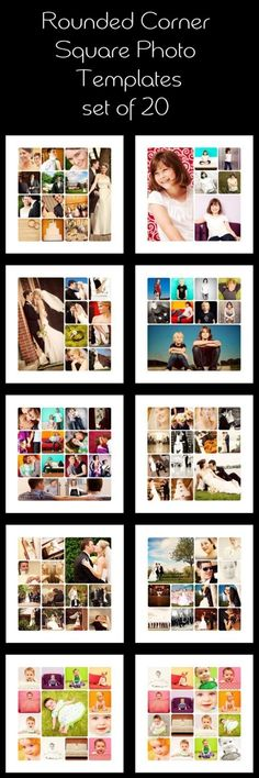 #Album Templates: Rounded corner square photo templates Like, repin, share! Thanks
