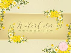 WCA71-yellow-romantic-adorable-floral-clips-borders