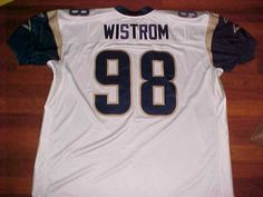 Reebok NFL NFC West St. Louis Rams Grant Wistrom 98 White Blue Gold Jersey 58… Nfc West, Nfl Jerseys, Blue Gold, St Louis, Reebok, Men, Shopping, Tops, Fashion
