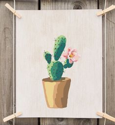 Instant download: printable watercolor cactus plant.  ***Get free prints, Promo codes for digital prints available in the shop