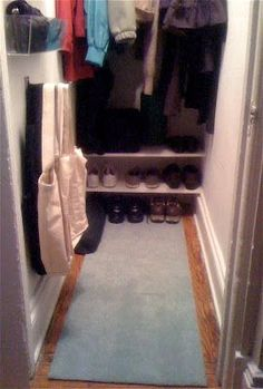 This deep narrow hall closet was a huge annoyance to this client. With hooks on the door and both sides it made accessing the back and...