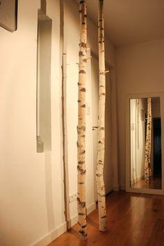 --- NEUES AUS DER NECKARMANUFAKTUR --- **Design Garderobe aus 3 Birkenstämmen** ...Bringe Natur in deine Wohnung. Stylische Garderobe aus Birkenstämmen aus nachhaltiger Forstung. Die Stämme...