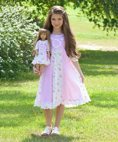 """Lilli Lovebird matching dress for girls and their favorite 18"""" doll. Perfect gift for young american girl doll fans"""