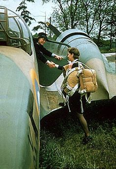 https://flic.kr/p/62C7wb | ATA pilot training | During the war many ATA's were trained as pilots on all types of aircraft. Here a student pilot is helped aboard an Airspeed Oxford for another lesson in 1942