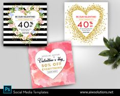 Heart & gold glitter, watercolor and gold foil, Valentine's Day Sale template, Valentines Marketing Board, marketing template, #NewsletterTemplate #EmailMarketing #SaleEmailTemplate #SaleEmail #EMailTemplate #EmailNewsletter #ValentineSalePost #SocialTemplate #EmailTemplate #MarketingEmail