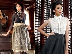 Modern Filipiniana *Barong Tagalog dress for Romantic Gamine on right Modern Filipiniana Gown, Filipiniana Wedding, Fashion 101, Modern Fashion, Fashion Outfits, Fashion Trends, Grad Dresses, Bridesmaid Dresses, Philippines Fashion