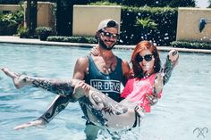 Summer time madness. Enjoy it while it's here! #hrdrvs #summer #style #fashion #menswear #womenswear #lifestyle #brand #wear #pink #croptop #tanktop #pool #fun #tattoos #culture