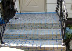 Concrete to brick front steps - HOME SWEET HOME