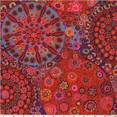 Kaffe Fassett Millefiore Red fabric
