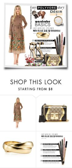 """""""Desir vale  19"""" by mell-2405 ❤ liked on Polyvore featuring Gucci, Caffé and plus size dresses"""