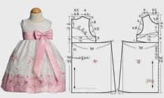Patterns of children's dresses \/ IP Neo Baby Dress Patterns, Kids Patterns, Sewing Clothes, Diy Clothes, Little Girl Dresses, Girls Dresses, Baby Sewing, Kind Mode, Clothing Patterns
