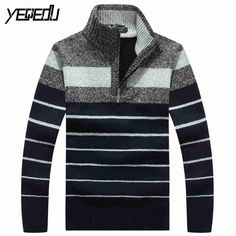 c180e2eeaec684 Men s Clothing · Sweaters ·    Click to Buy     1328 2017 Turtleneck  striped sweater Fashion Slim fit.
