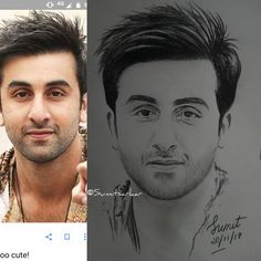 Ranbir Kapoor sketch || Bollywood celebrity sketch || Black and White using staedtler || By Sumit Sarkar