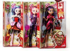 Ever After High fashion dolls Apple White+Raven Queen+Briar Beauty 3pcs/set