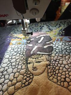 Gordana Brelih...machine stitching on felt