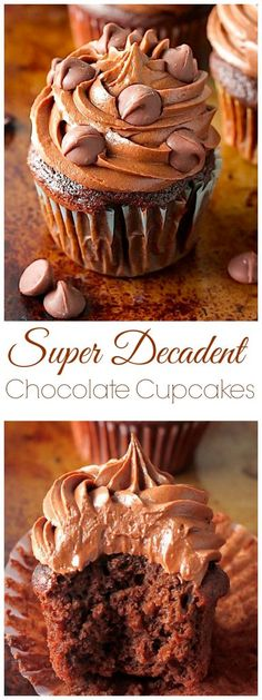 Chocolate Lovers – get excited! These rich, fudgy, super decadent chocolate cupcakes are all for you! So soft, fluffy, and full of chocolate flavor in every bite… they're addicting! And a chocolate lovers dream 🙂 The idea for these pretty little cupcakes came straight from my longing to get BACK in the kitchen after a drawn out (and...