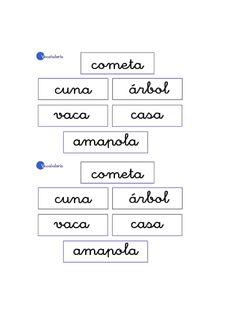 Actividades para niños preescolar, primaria e inicial. Imprimir fichas con vocabulario para niños de preescolar y primaria. Vocabulario. 1