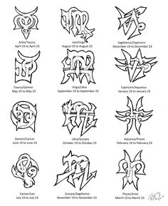Zodiac Cusps Tattoo Designs by Wolfrunner6996.deviantart.com on @deviantART And here are my Cusp designs!