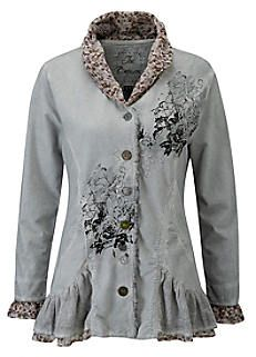 Elaborate Embroidered Sweat Jacket by Joe Browns