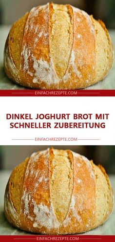 Spelled yogurt bread with quick Dinkel Joghurt Brot mit schneller Zubereitung Spelled yogurt bread with quick preparation - Easy Cheesecake Recipes, Easy Smoothie Recipes, Easy Smoothies, Easy Cookie Recipes, Bread Recipes, Cooking Chef Gourmet, Yogurt Bread, Desserts Sains, Bon Dessert