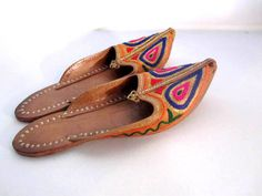 embroidered indian slippers