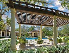 Large Pergola, Lattice Style  Pergola and Patio Cover  Harold Leidner Landscape Architects  Carrollton, TX