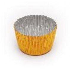 Envase de aluminio, para bombonería - pastelería, Color:  metalizado oro. http://www.ilvo.es/es/product/envase-bomboneria-ref-187---30-mm-exterior