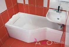 """Képtalálat a következőre: """"fürdőszoba ravak"""" Studio Apt, Corner Bathtub, Sink, Arrow Keys, Close Image, Bathroom Ideas, Home Decor, Happy, Homes"""