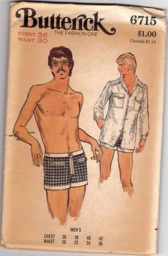 We're Feeling a New Sexy Retro Caftan Moment Coming On… Mens Sewing Patterns, Sewing Men, Vintage Dress Patterns, Men's Swimsuits, Vintage Swimsuits, Men's Swimwear, 70s Fashion Men, Retro Fashion, Suit Drawing