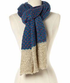 Teal Pebble Knit Scarf by Simonetta #zulily #zulilyfinds
