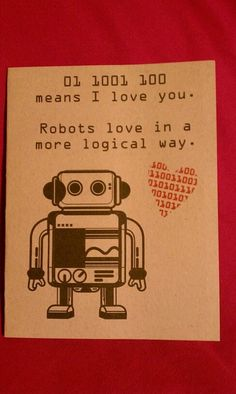 Robot Love Blank Cards