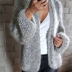 (notitle) - Kiro by Kim 2018 - Sweaters Fall Outfits, Fashion Outfits, Womens Fashion, Kiro By Kim, Crochet Dress Outfits, Looks Style, My Style, Crochet Cardigan, Crochet Cozy