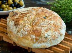Πεντανόστιμο αφράτο ψωμί με ελιές. Ένα τέλειο μοσχομυριστό ελιόψωμο με τραγανή κόρα, μαλακό, αφράτο και ελαφρώς λαστιχωτό εσωτερικά με προσθήκη πράσινων Olive Bread, Greek Recipes, How To Make Bread, Fresh Herbs, Crepes, Camembert Cheese, Food Processor Recipes, Sweets, Vegan