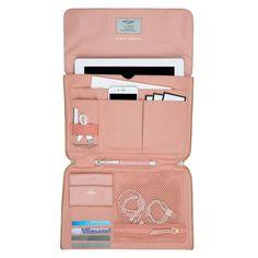 Elektronista Digitale Clutch Tasche von KNOMO: Offizielle Webseite | Zartrosa Clutch Tasche für Damen | Vollrindleder | Damentaschen| Designed by KNOMO London