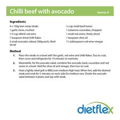 Chilli beef with avocado #dietflex #healthyrecipes