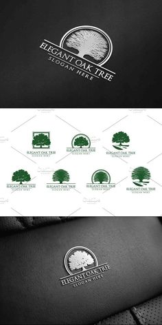 Green Oak Tree Logo vol 1 Template Features: - Fully editable,easy to edit the text,slogan,and colour - Include vector Ai and Eps 10 (CMYK) - Png Tree Slogan, Tree Of Life Logo, Tree Silhouette Tattoo, Evergreen Tree Tattoo, Christmas Tree Silhouette, Tree Photoshop, Birch Tree Wallpaper, Family Tree Photo, Logo Design