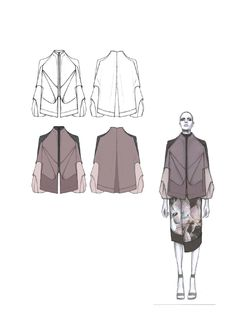 Fashion Sketchbook - fashion design drawings; graduate fashion collection development; fashion portfolio // Amy Dee