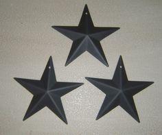 Primitive Tin Black Barn Star Craft Supply by oldporchprimitives, $5.95
