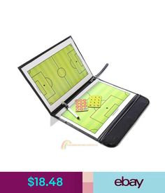 Training Aids Magnetic Football Soccer Coaching Dry Erase Clipboard Tactical Board W/ Marker #ebay #Lifestyle