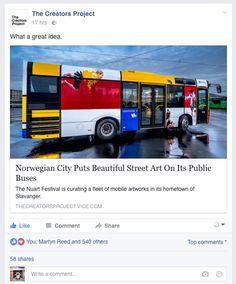 Creators Project, Beautiful Streets, Stavanger, New Art, The Creator, Street Art, Public, City, Artwork