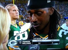 Clay Matthews photo bomb..... Lol I just can't with that face!!!