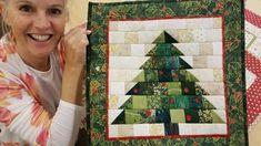 Christmas Patchwork, Fabric Christmas Trees, Christmas Wall Hangings, Christmas Sewing, Christmas Projects, Holiday Crafts, Christmas Blocks, Christmas Cushions, Christmas Quilting