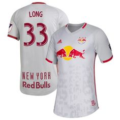 14f81237f1b37 Aaron Long #33 New York Red Bulls Primary 2019 SOCCER Jersey â   Gray