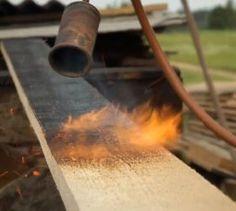 making shou sugi ban wood