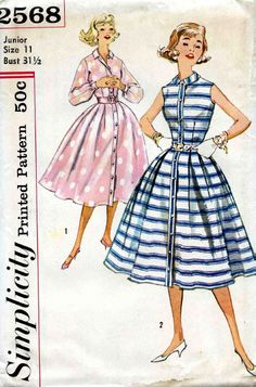 """vintage dress pattern I made several dresses by this pattern. love the """"peter pan"""" collar"""